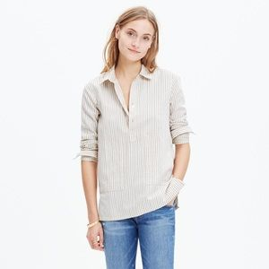 Madewell Striped Popover Shirt